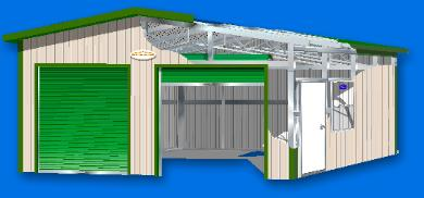 WEATHERGUARD RESIDENTIAL STYLE GARAGE TECHNICAL ILLUSTRATION